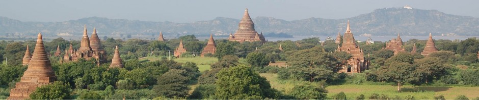 Headerbild: Myanmar Pagoden in Bagan